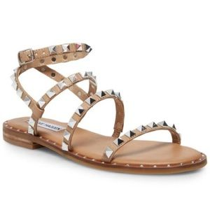 Steve Madden Travel Sandals Tan Size 6.5